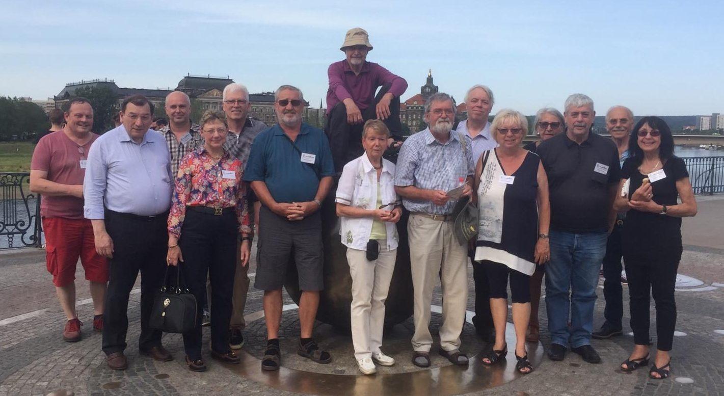 Zinnfreundetreffen 2019: Eine Teilnehmer-Gruppe beim Dresden-Bummel